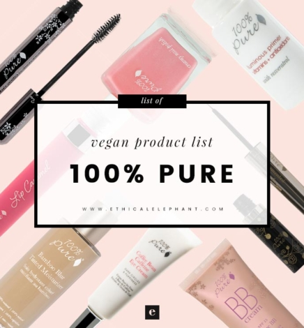 100% Pure Vegan Product List
