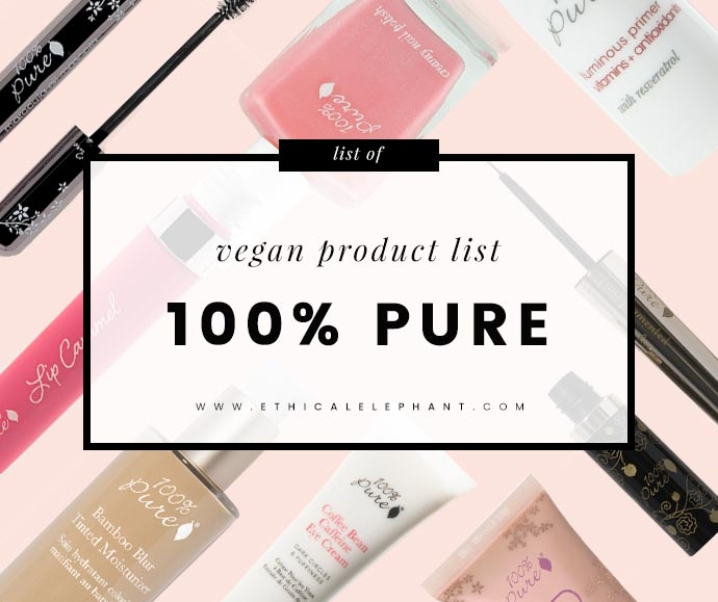 100% Pure Vegan Product List
