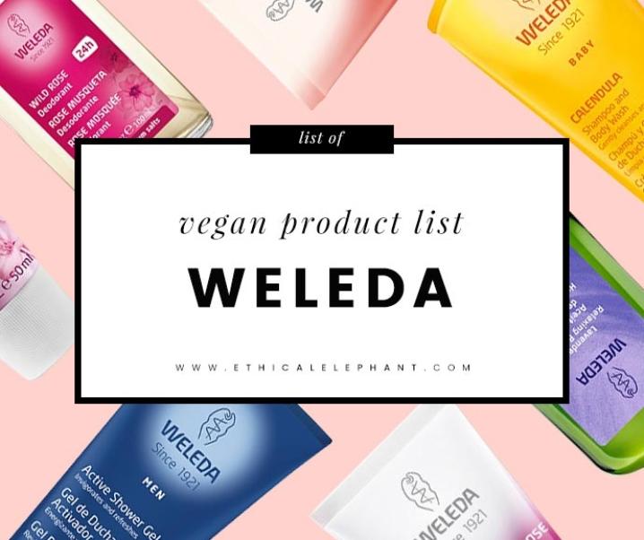 Weleda Vegan Product List