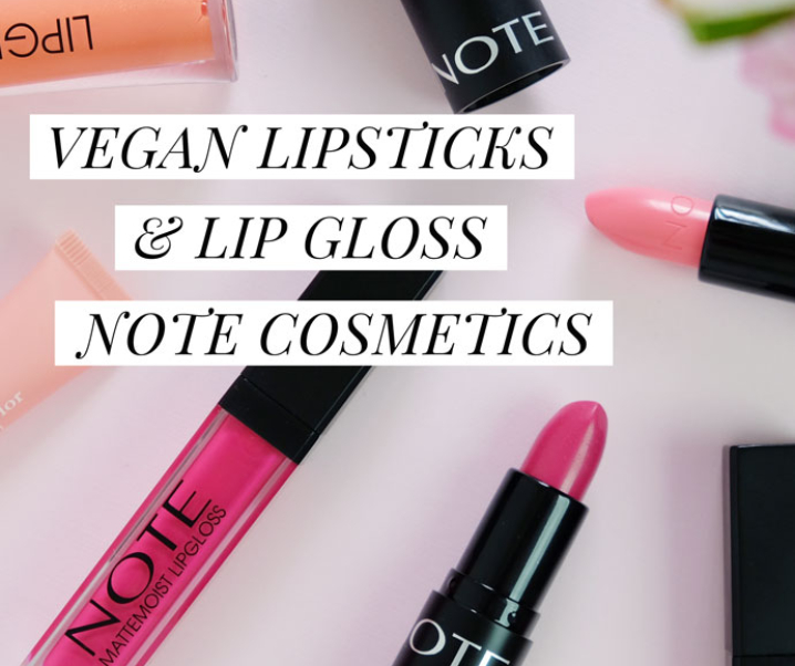 Vegan Lipsticks from Note Cosmetics Review