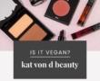 FLOWER Beauty Vegan Product List