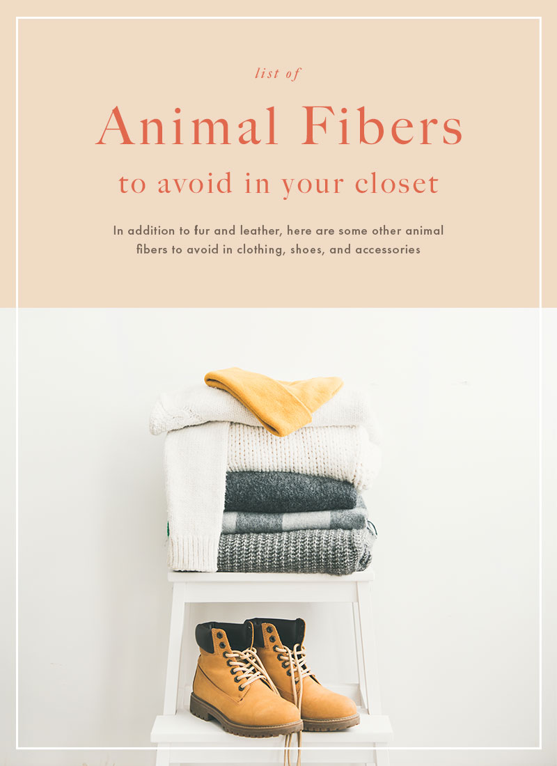 List of animal fibers to avoid in your closet
