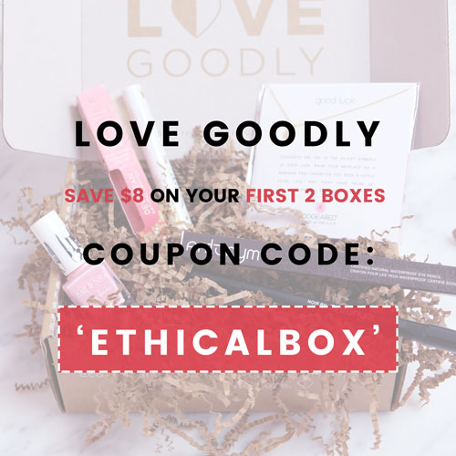 LOVE GOODLY Coupon Code: ETHICALBOX