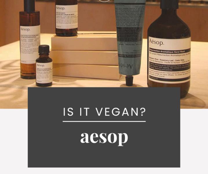 Aesop Cruelty-Free & Vegan Status