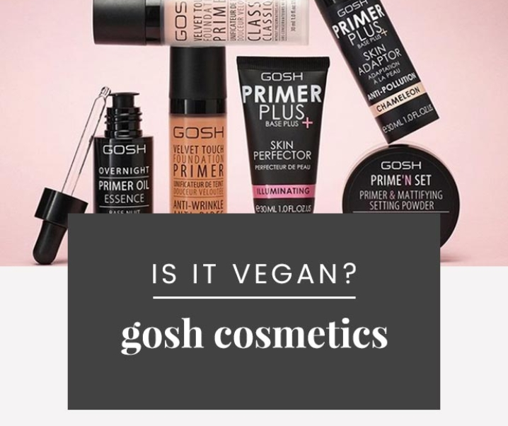 Is GOSH Cruelty-Free? | GOSH Cosmetics Vegan Product List