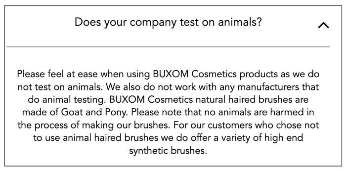 Does Buxom Test on Animals? | Buxom's Animal Testing Statement 2019