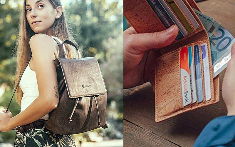 Corkor vegan cork leather bags and wallets on Amazon.