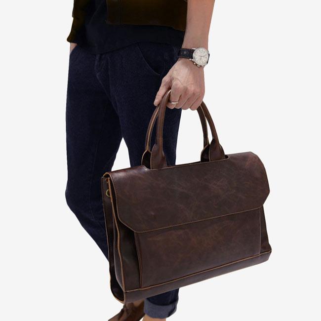 Tokyo Bags Vegan Leather Briefcase