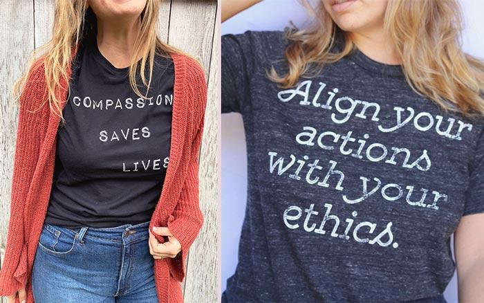 Threads for Love - Vegan Etsy Shirts