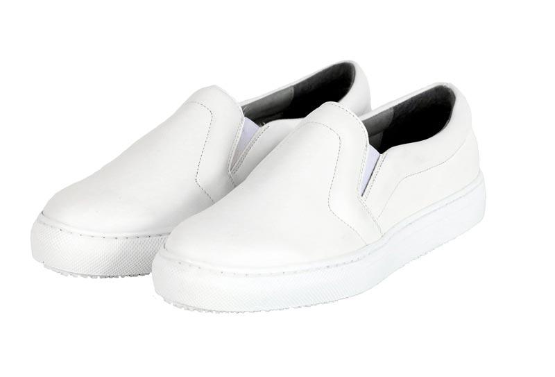 BAHATIKA's Malkia White Vegan Slip-On Sneakers