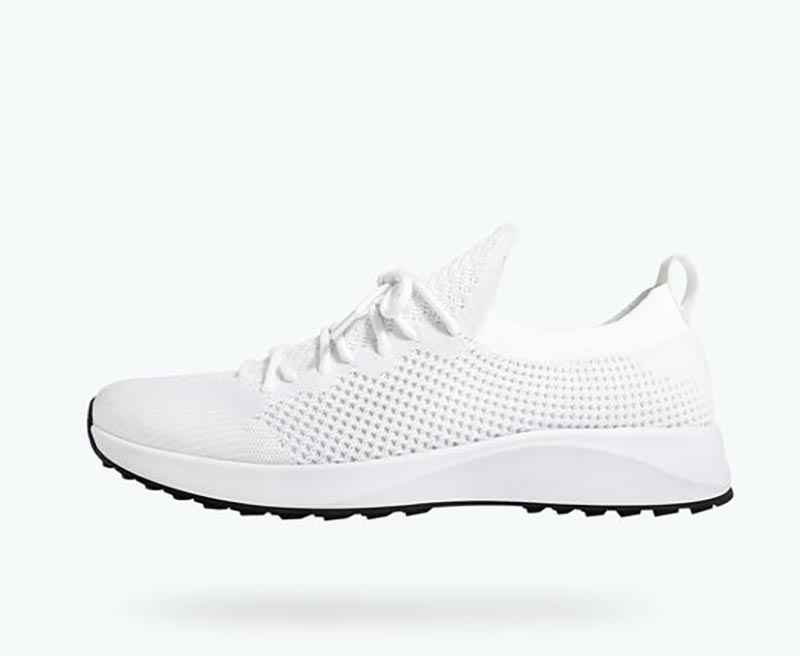 Native Shoes' Ultralite Knit Vegan White Sneakers