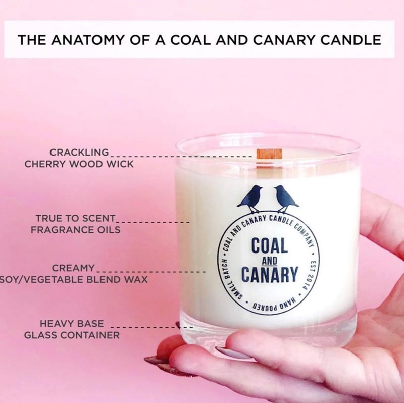 Coal and Canary Scented Candles