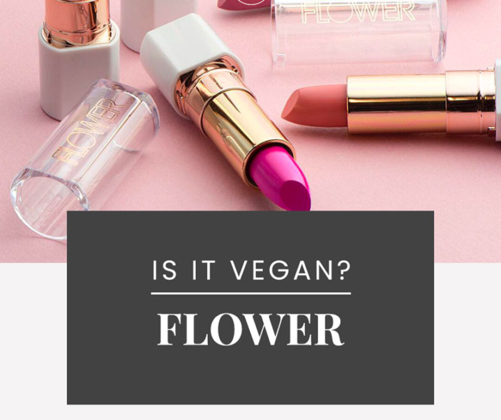 FLOWER Beauty Vegan Product List