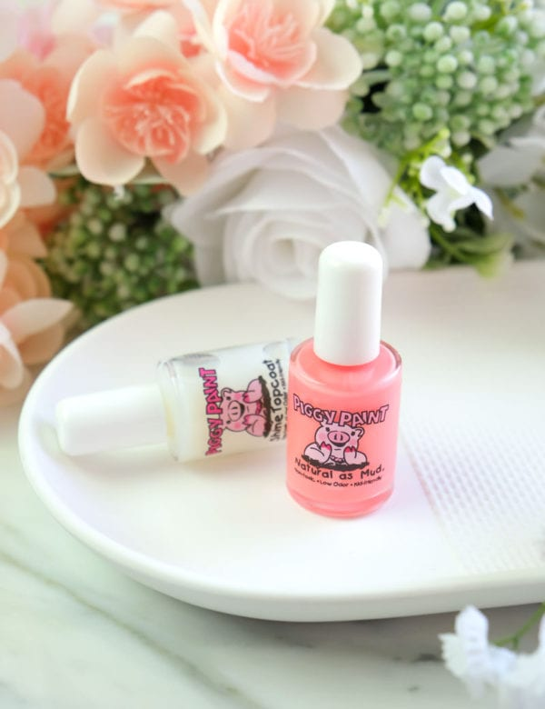 Piggy Paint Water-Based Nail Polish Color Review (Let's Flamingle)