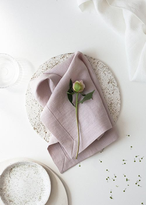 soft pastel pink linen napkins