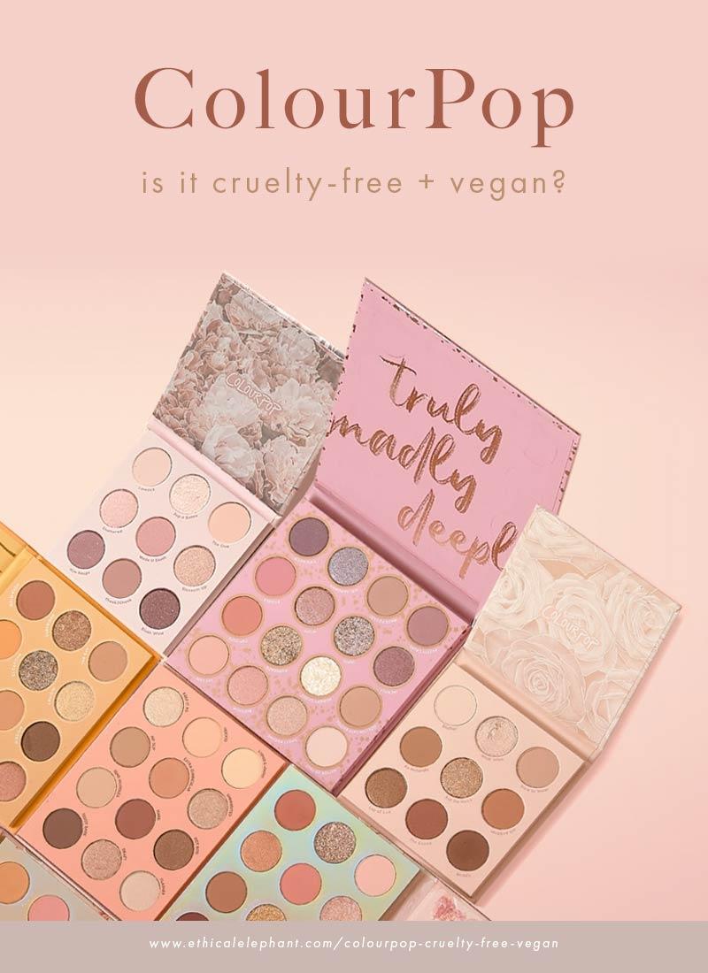Is ColourPop cruelty-free and vegan?