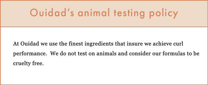 Ouidad's Animal Testing Policy