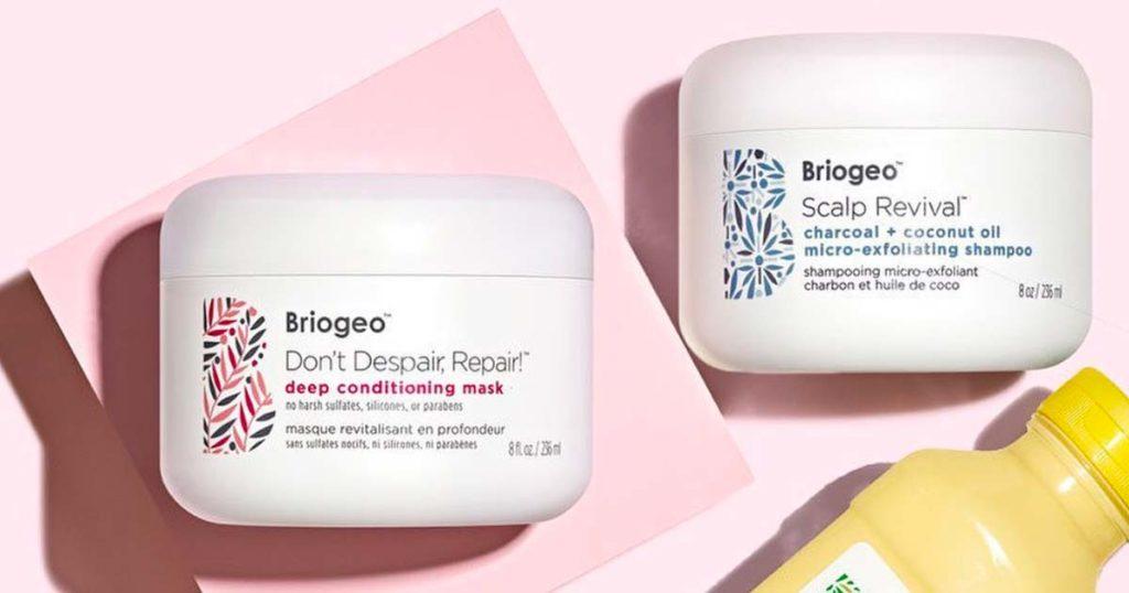 Briogeo Don't Despair, Repair Deep Conditioning Mask and their Scalp Revival Charcoal + Coconut Oil Shampoo