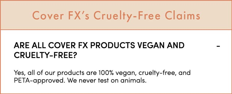 Cover FX cruelty-free claims