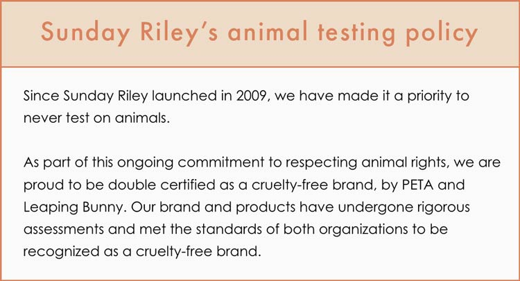Sunday Riley Cruelty-Free Claims