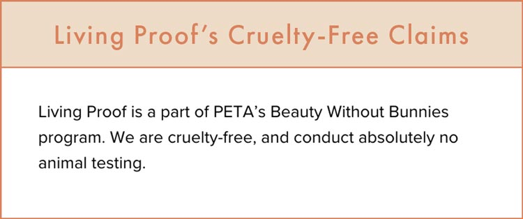 Living Proof's Cruelty-Free Claims