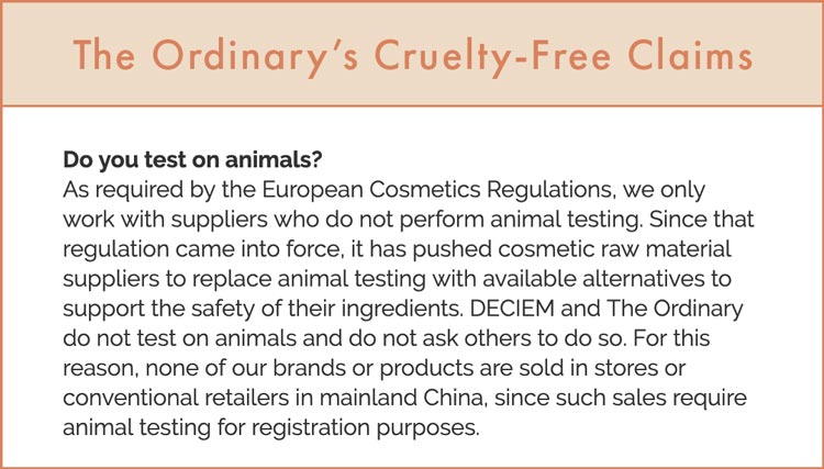 The Ordinary Cruelty-Free Claims