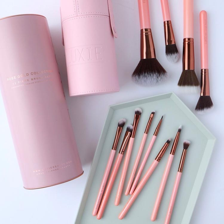 Luxie Beauty Rose Gold Vegan Makeup Brushes