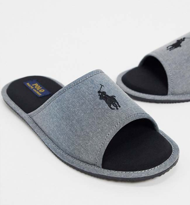 Designer Men's Vegan Slippers by Ralph Lauren