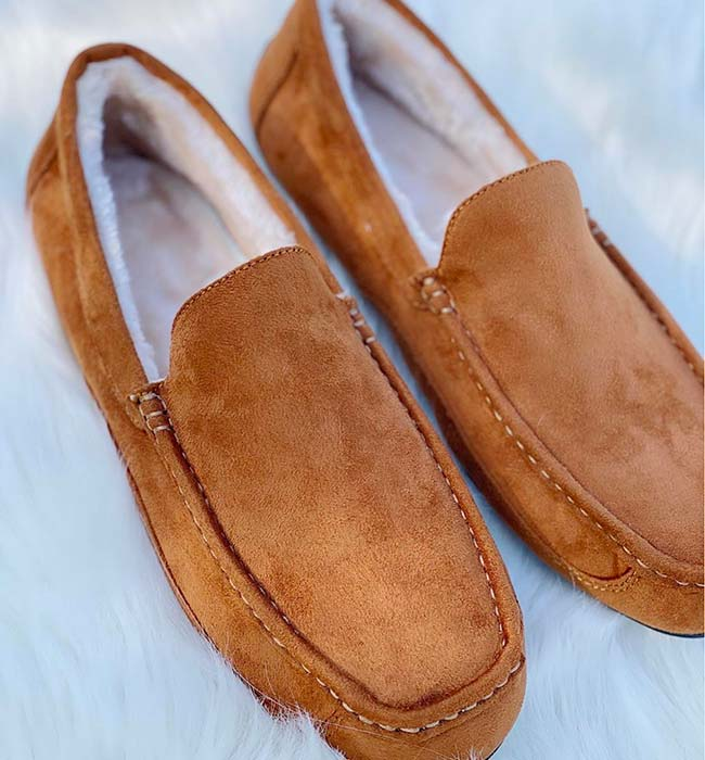 Mens Moccasin Vegan Slippers