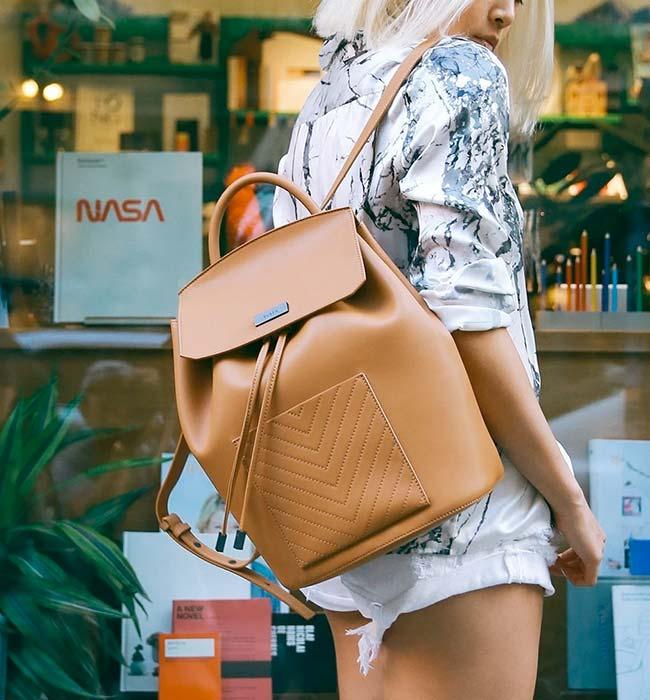 Vegan Drawstring Backpack by JW PEI