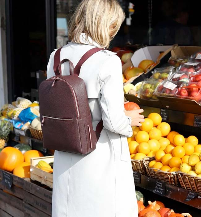 Vegan Backpack Made From Apple Skin Leather by LUXTRA