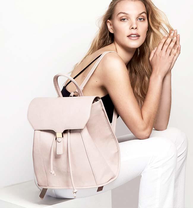 Rose Pink Vegan Leather Backpack by Urban Originals