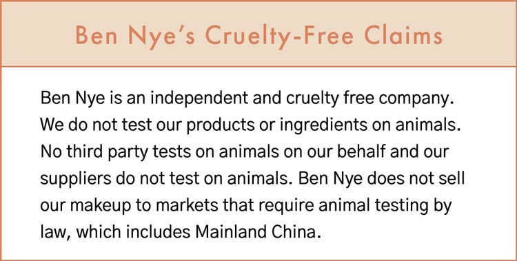 Ben Nye Cruelty-Free Statement