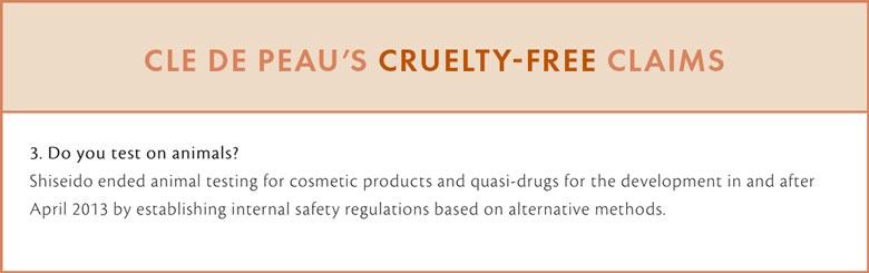 Clé de Peau Cruelty-Free Claims