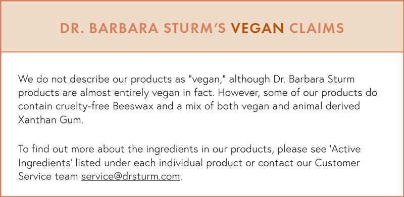 Dr. Barbara Sturm Vegan Claims