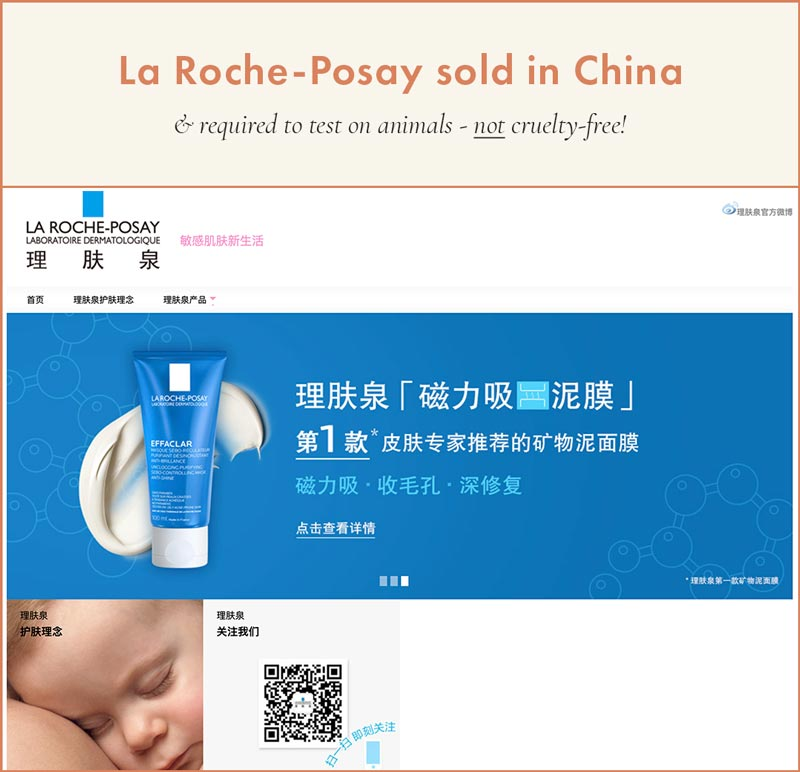 La Roche-Posay Sold in China; Cannot Be Cruelty-Free