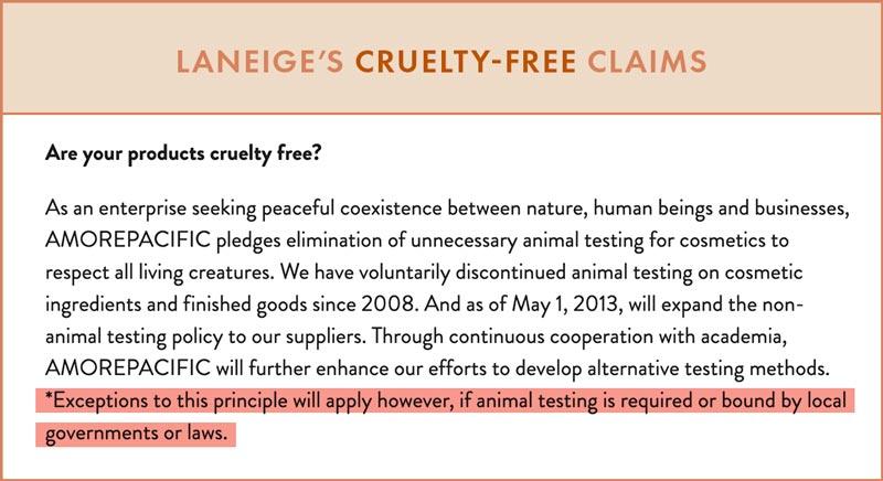 Laneige Animal Testing Policy