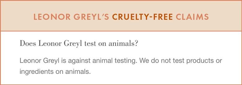 Leonor Greyl Cruelty-Free Claims
