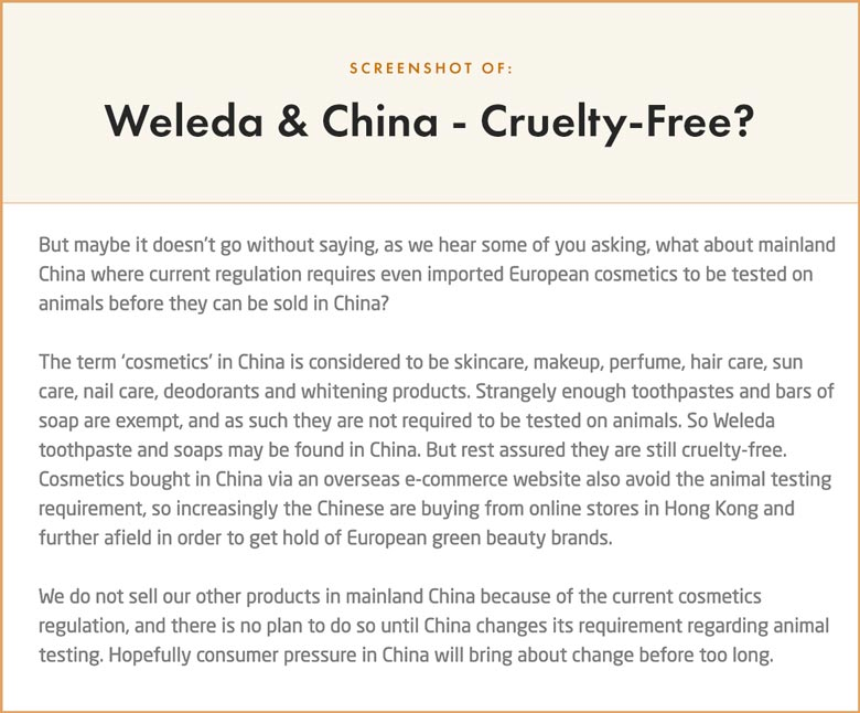 Is Weleda Sold in China?