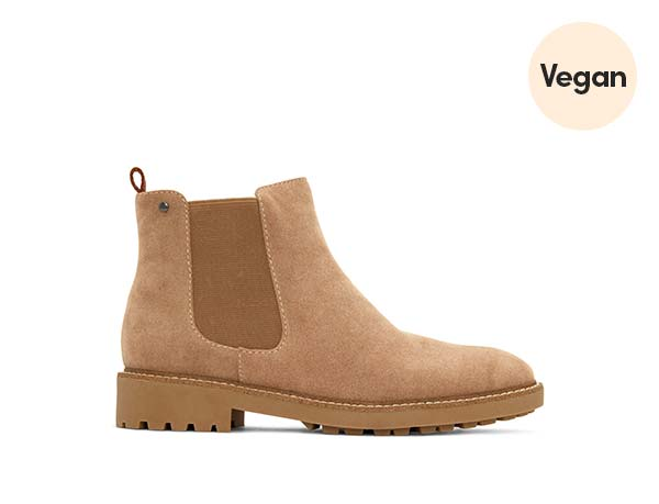 Tan Vegan Suede Women's Chelsea Boots 'Tokio'