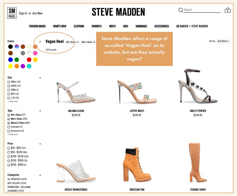 Acercarse Fracción Más grande  Are Steve Madden Shoes Vegan? - Read this Before You Buy!