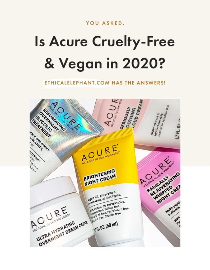 Is Acure Cruelty-Free & Vegan?