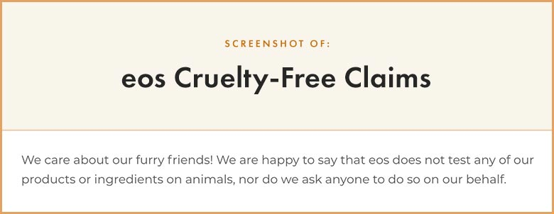 eos cruelty-free claims