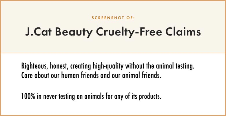 J Cat Beauty Cruelty-Free Claims