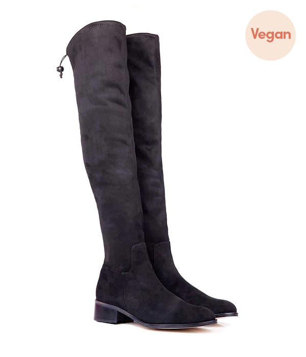 Stretch Over the Knee Vegan Boots by Beyond Skin