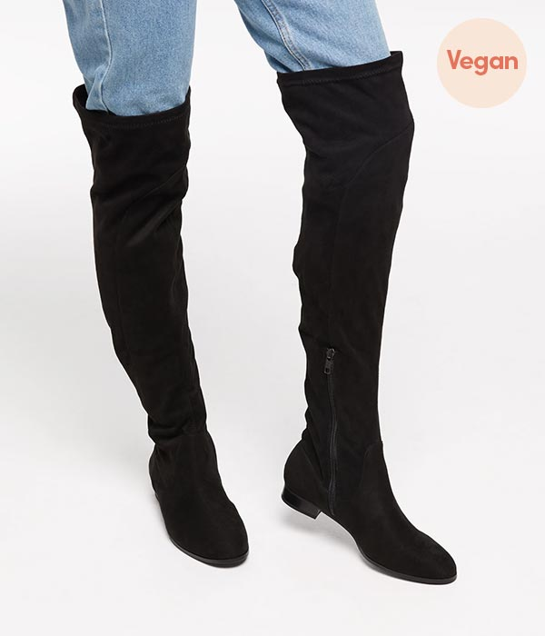 Vegan suede over the knee boots by Matt & Nat