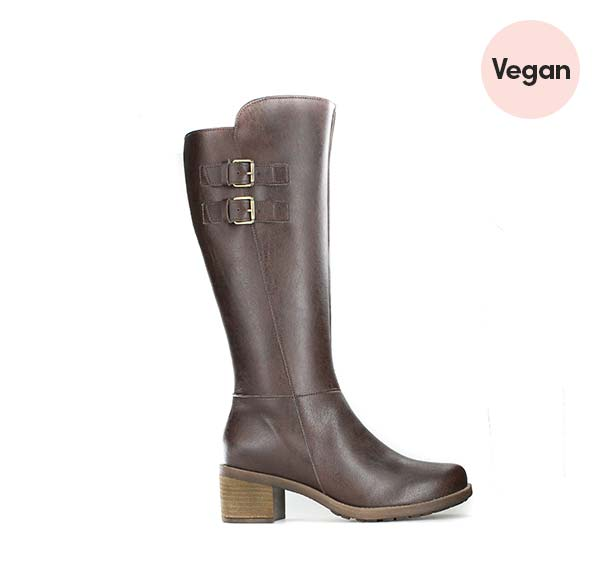 'Cecilia' Vegan Riding Boot in Brown from Novacas