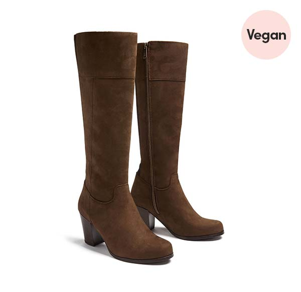 Will's Vegan Heeled Knee High Boots