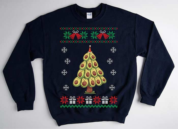 Avocado Christmas Tree Sweater
