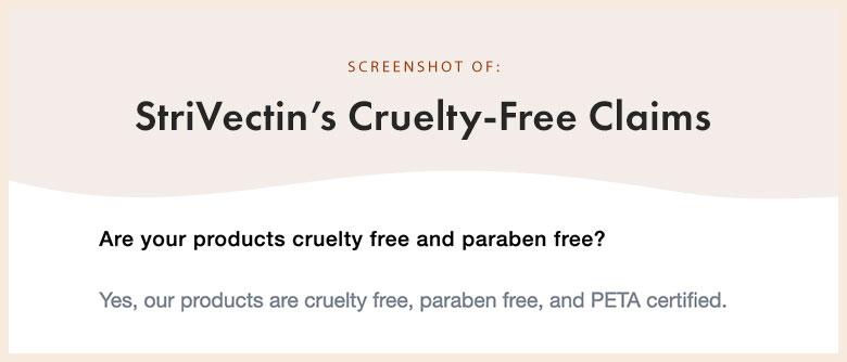 StriVectin Cruelty-Free Claims